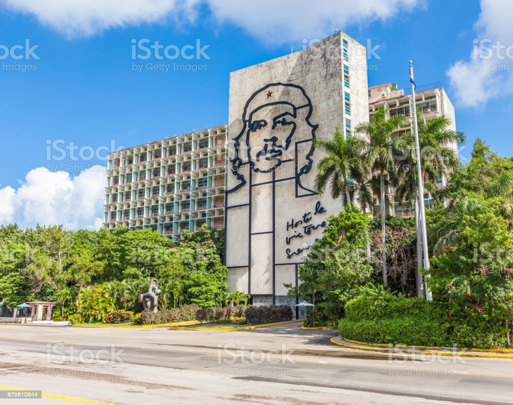 Cuba, Che Guevara face royalty-free stock photo