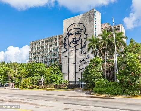 Cuba Che Guevara Face Stock Photo & More Pictures of Architecture