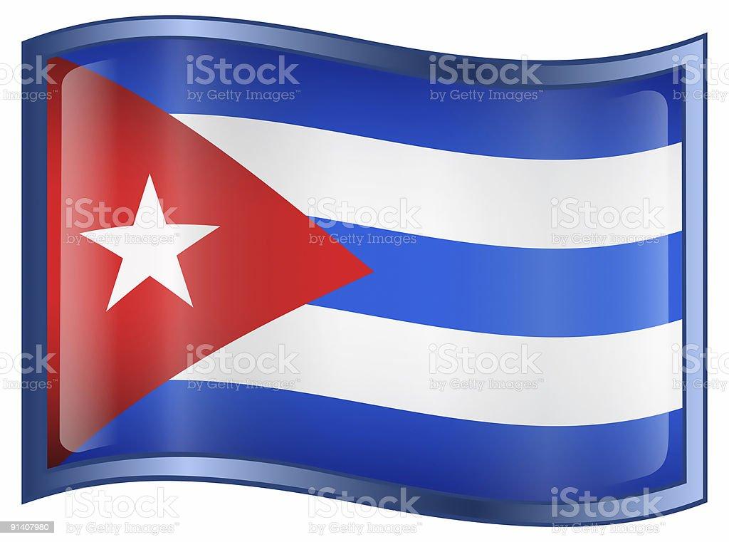 Cuba Flag Icon, isolated on white background. royalty-free stock photo