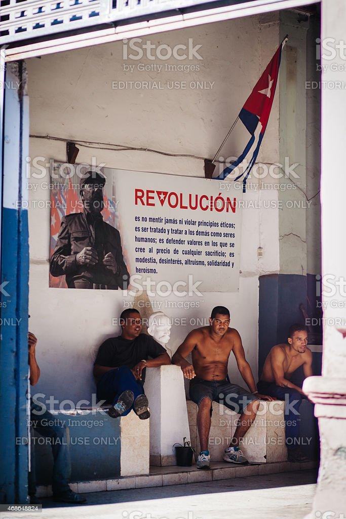 Cuba: Havana Revolutionaries stock photo