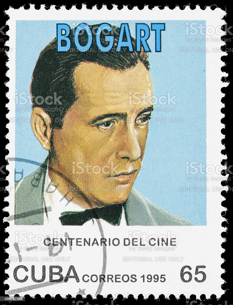 Cuba Humphrey Bogart postage stamp royalty-free stock photo