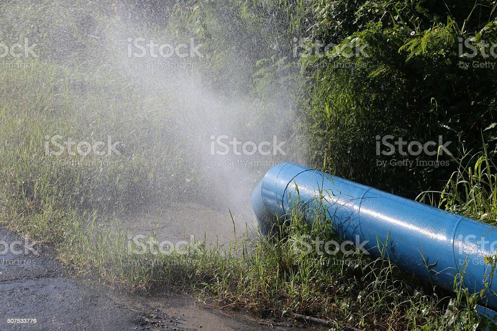 Cuba, Leaking Pipeline stock photo