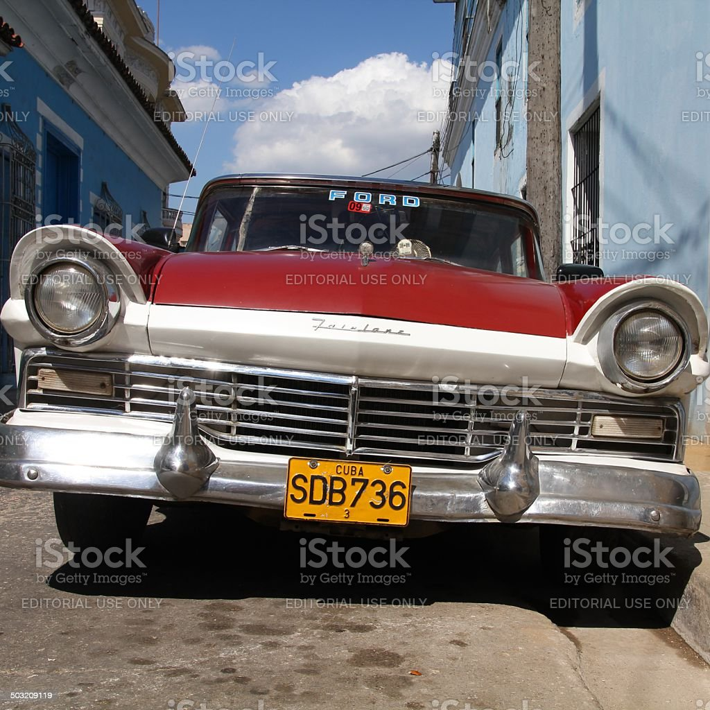 Cuba old car stock photo