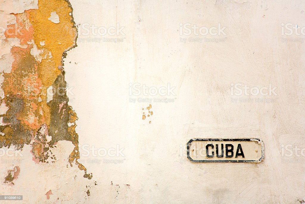 cuba plate royalty-free stock photo