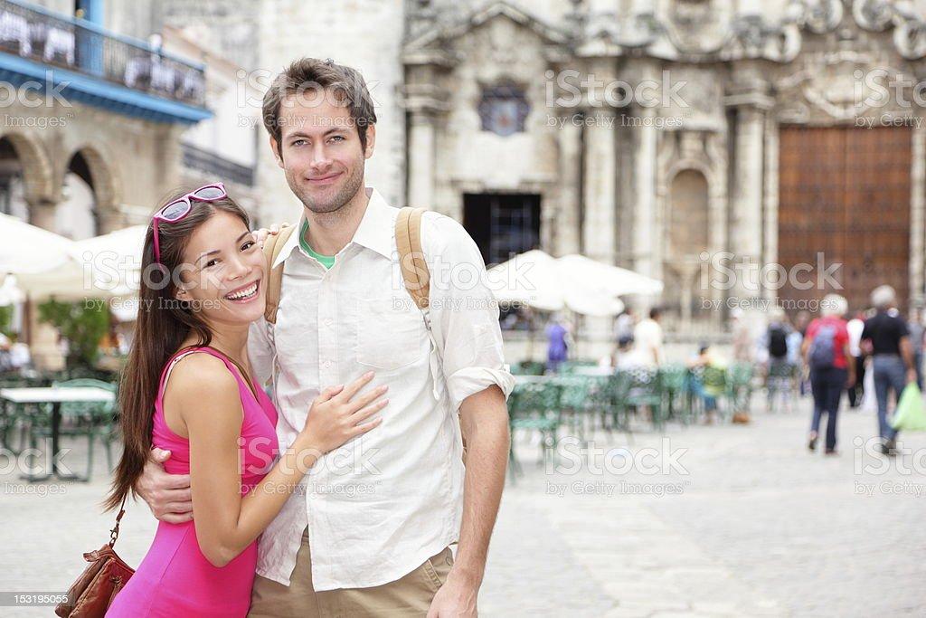 Cuba tourists in Havana royalty-free stock photo
