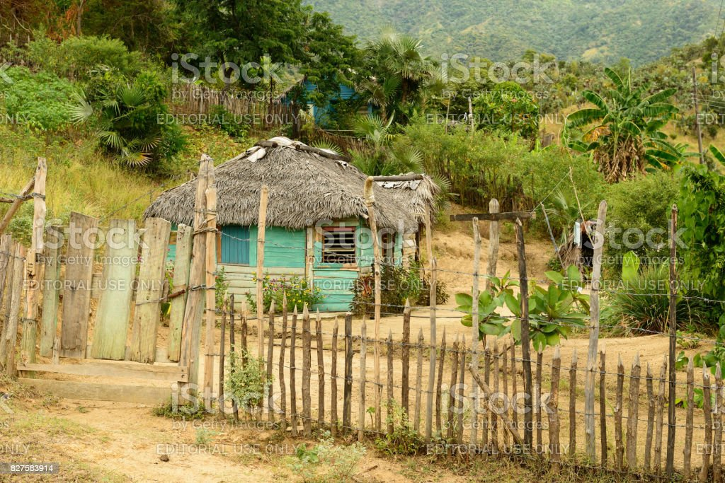 Cuba village stock photo