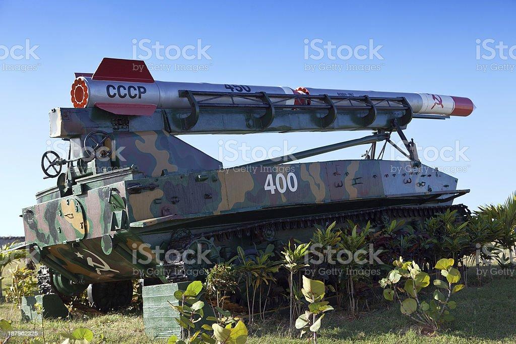Cuba.Havana.exhibition of the Soviet weapon devoted to memory stock photo