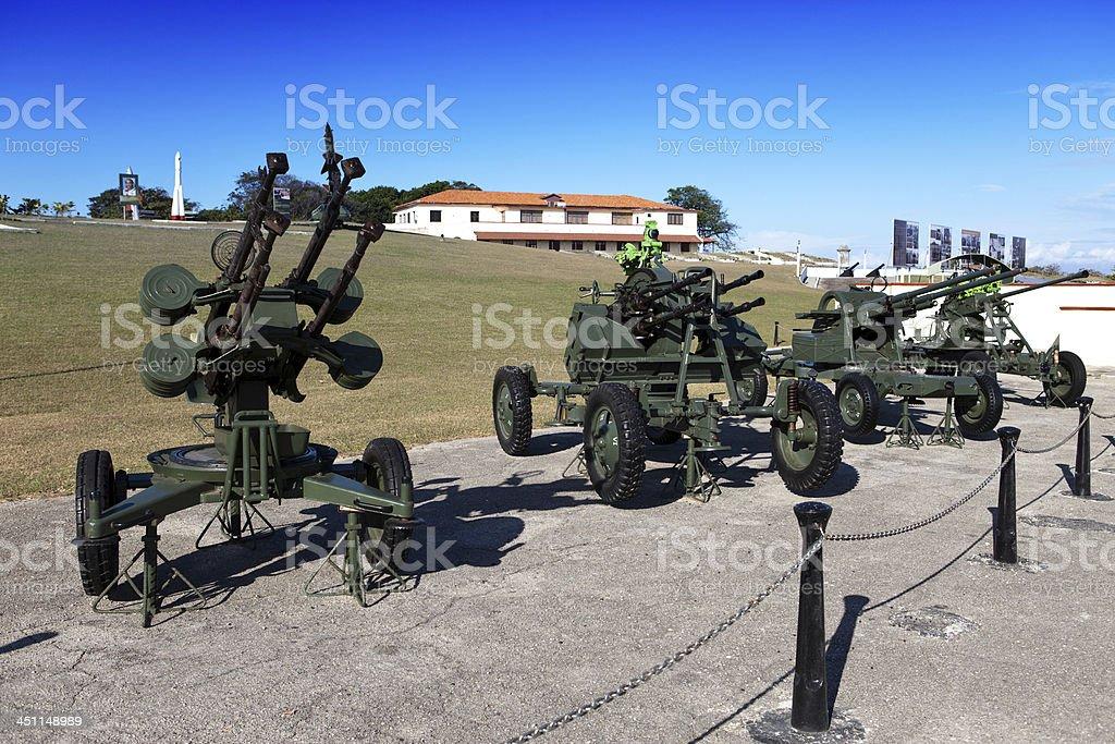 Cuba.Havana.exhibition Soviet weapon devoted to memory of  Caribbean Crisis stock photo