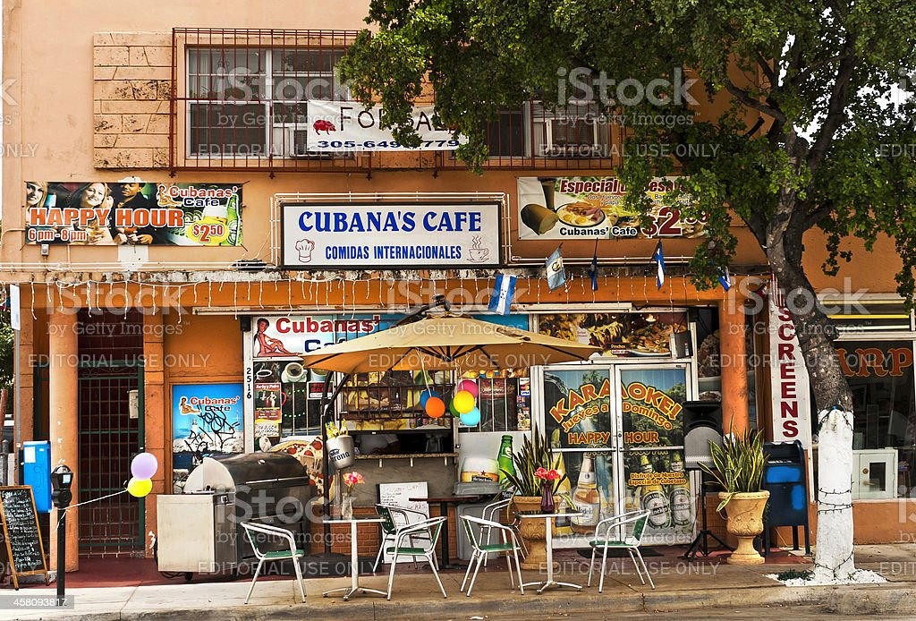 Cubanas Cafe stock photo