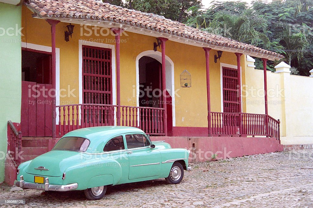 Cuban Car 2 royalty-free stock photo