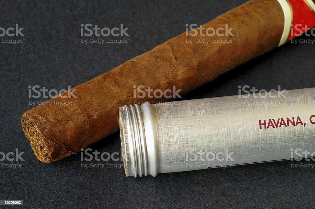 Cuban cigar closeup royalty-free stock photo