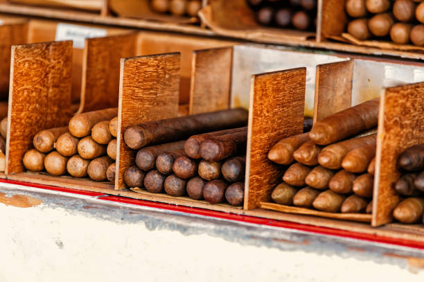 Cuban cigars in boxes in Key West, USA stock photo