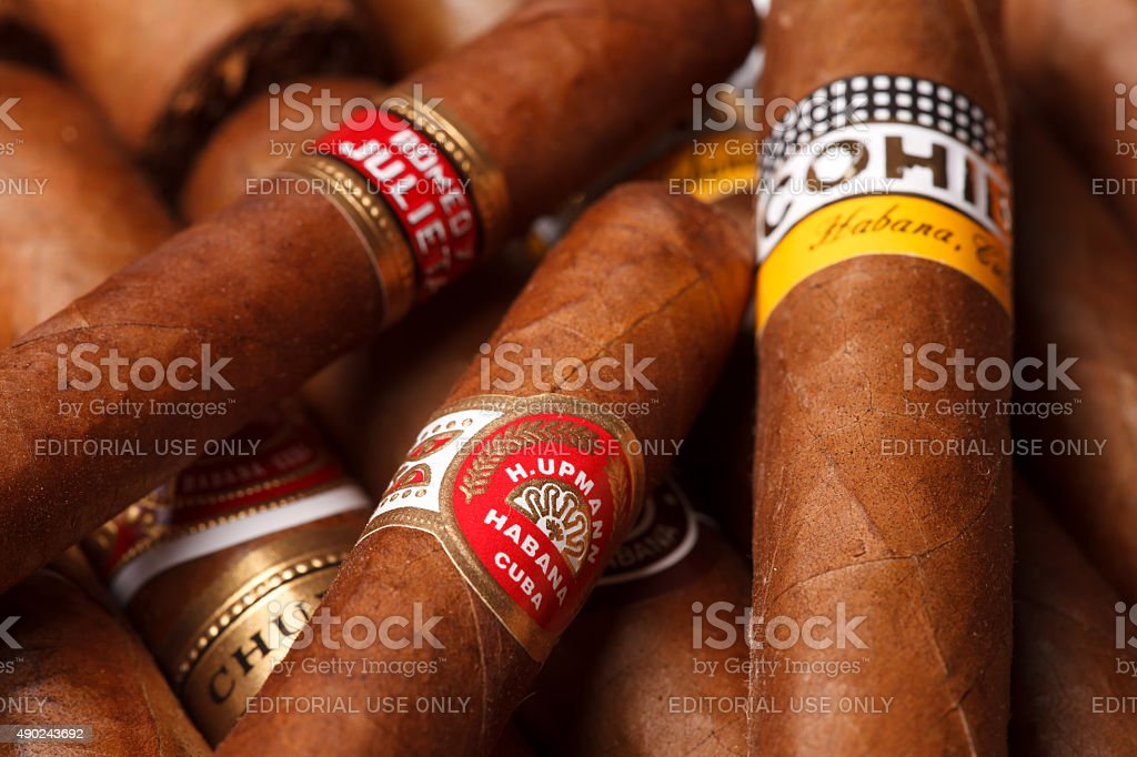 Cuban cigars stock photo