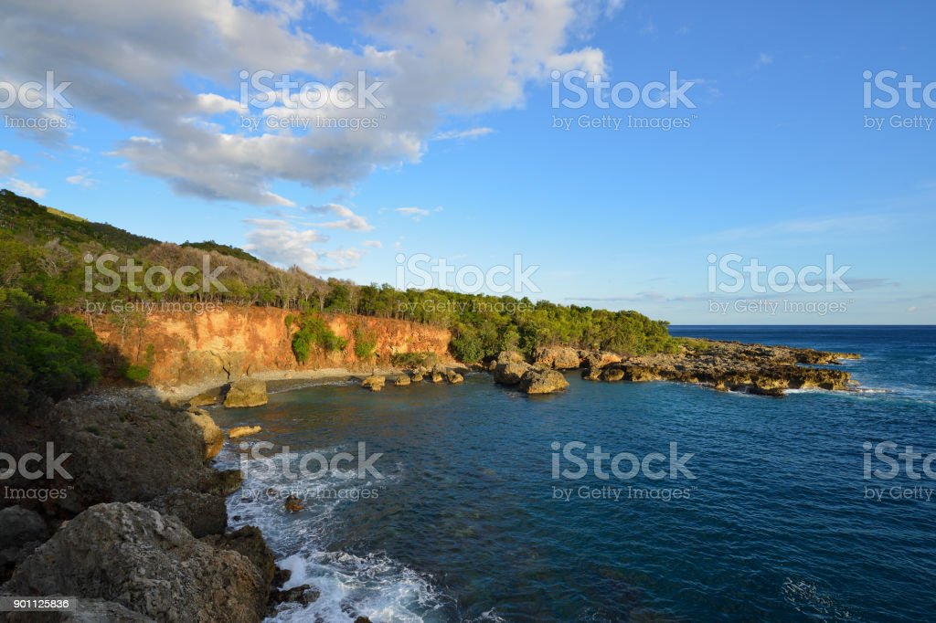 Cuban coast stock photo
