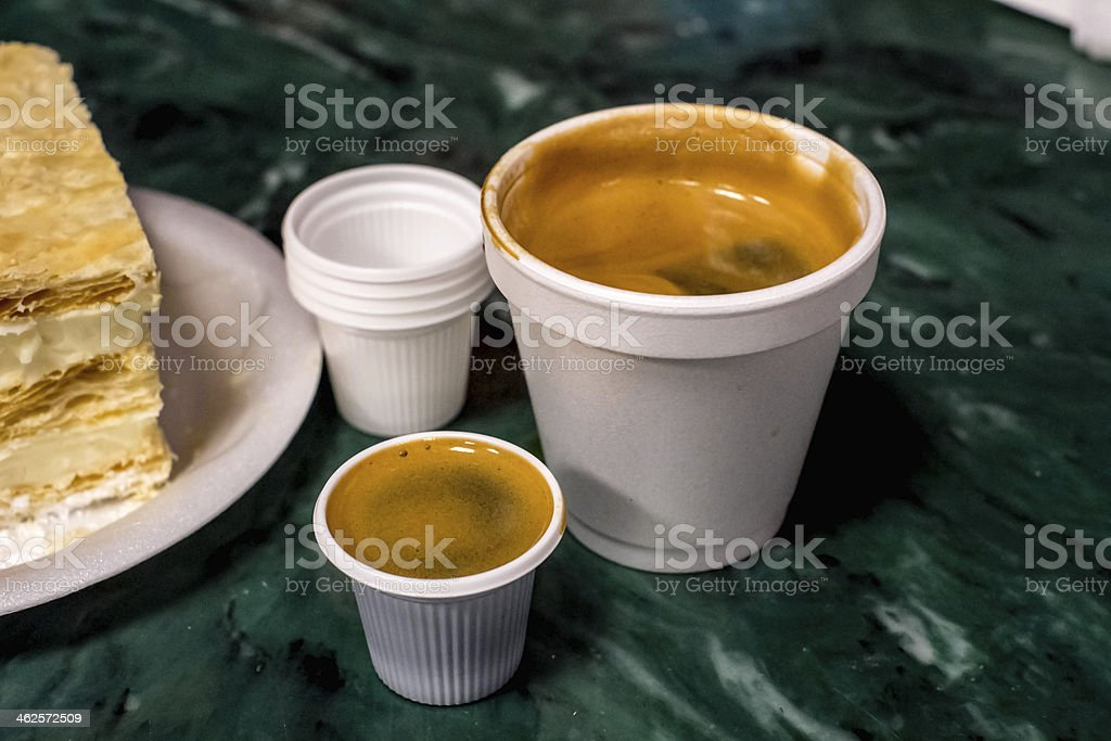 Cuban Coffee - Colada stock photo