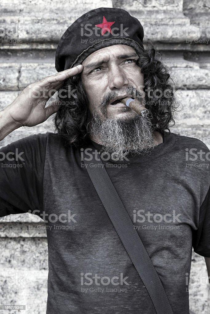 Cuban communist salute Cuban communist salute, Havana, Cuba 50-54 Years Stock Photo