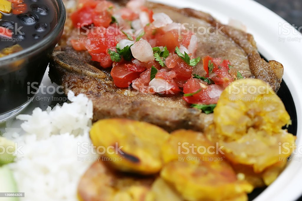 Cuban Dinner stock photo