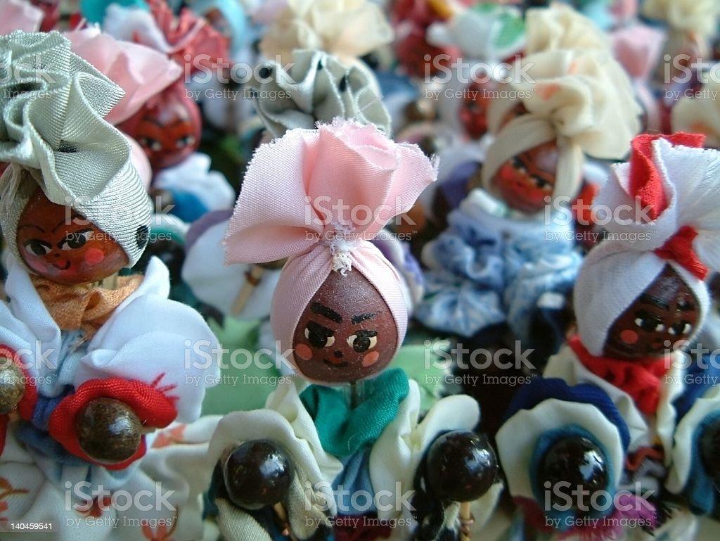 Cuban dolls at market stock photo