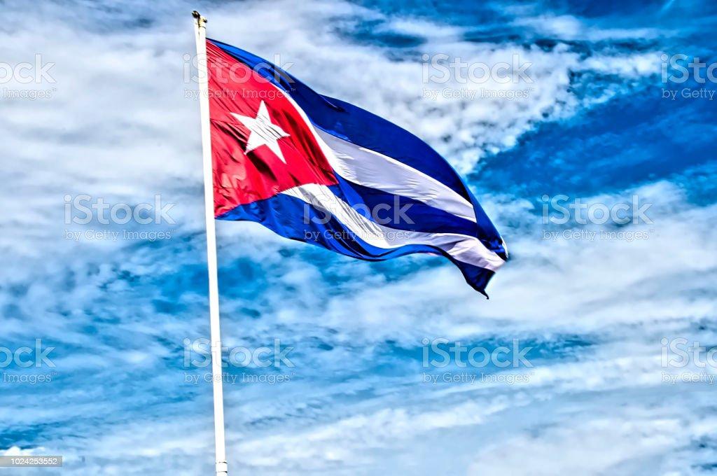 Bandera cubana - foto de stock