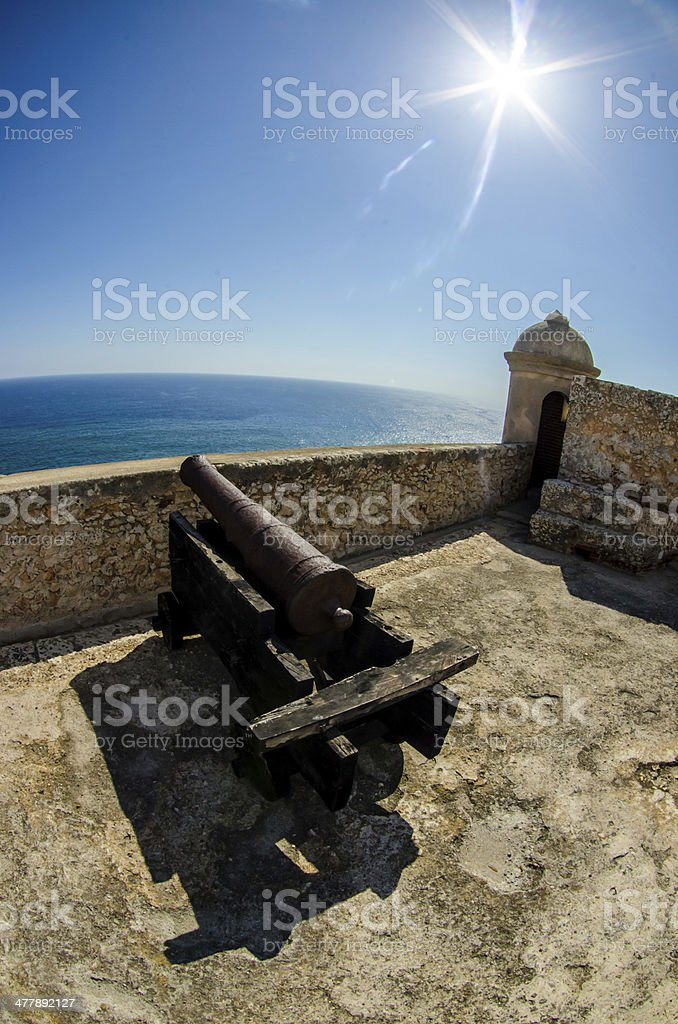 Cuban fortress stock photo