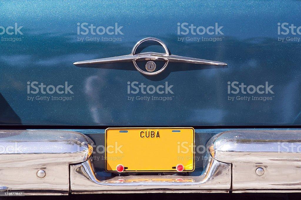 Cuban Licence Plate stock photo