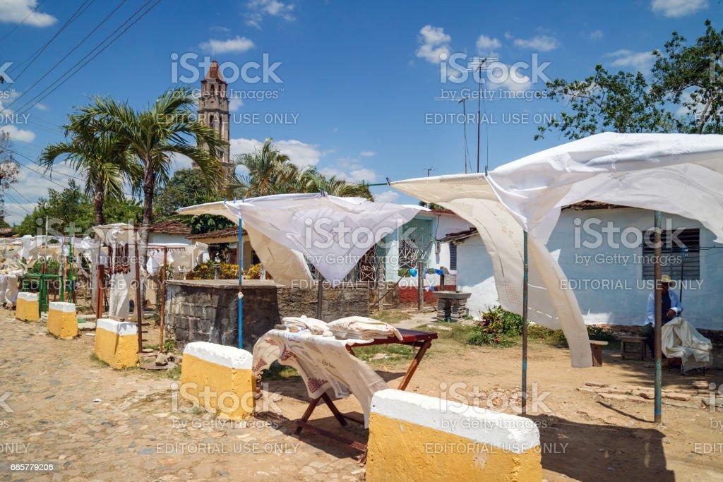 Cuban market near the Manaca Iznag royalty-free stock photo