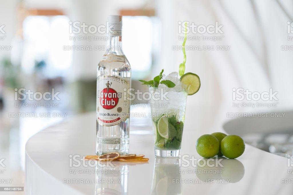 Cuban Mojito with Havana Club stock photo