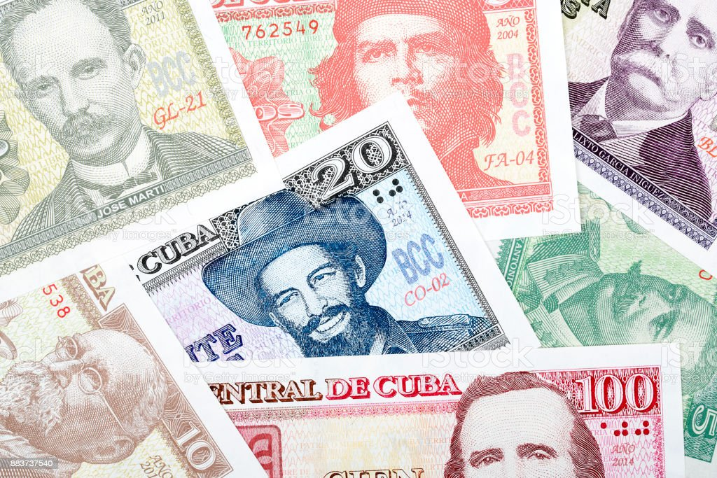 Cuban money, a background stock photo