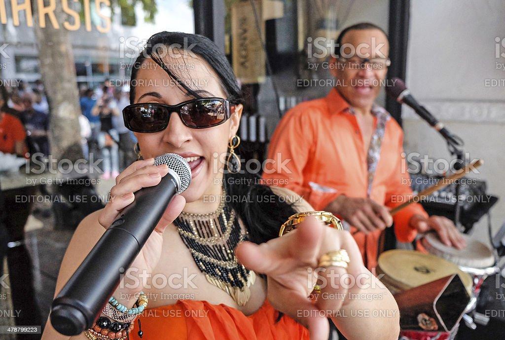 Cuban Music at Calle Ocho stock photo