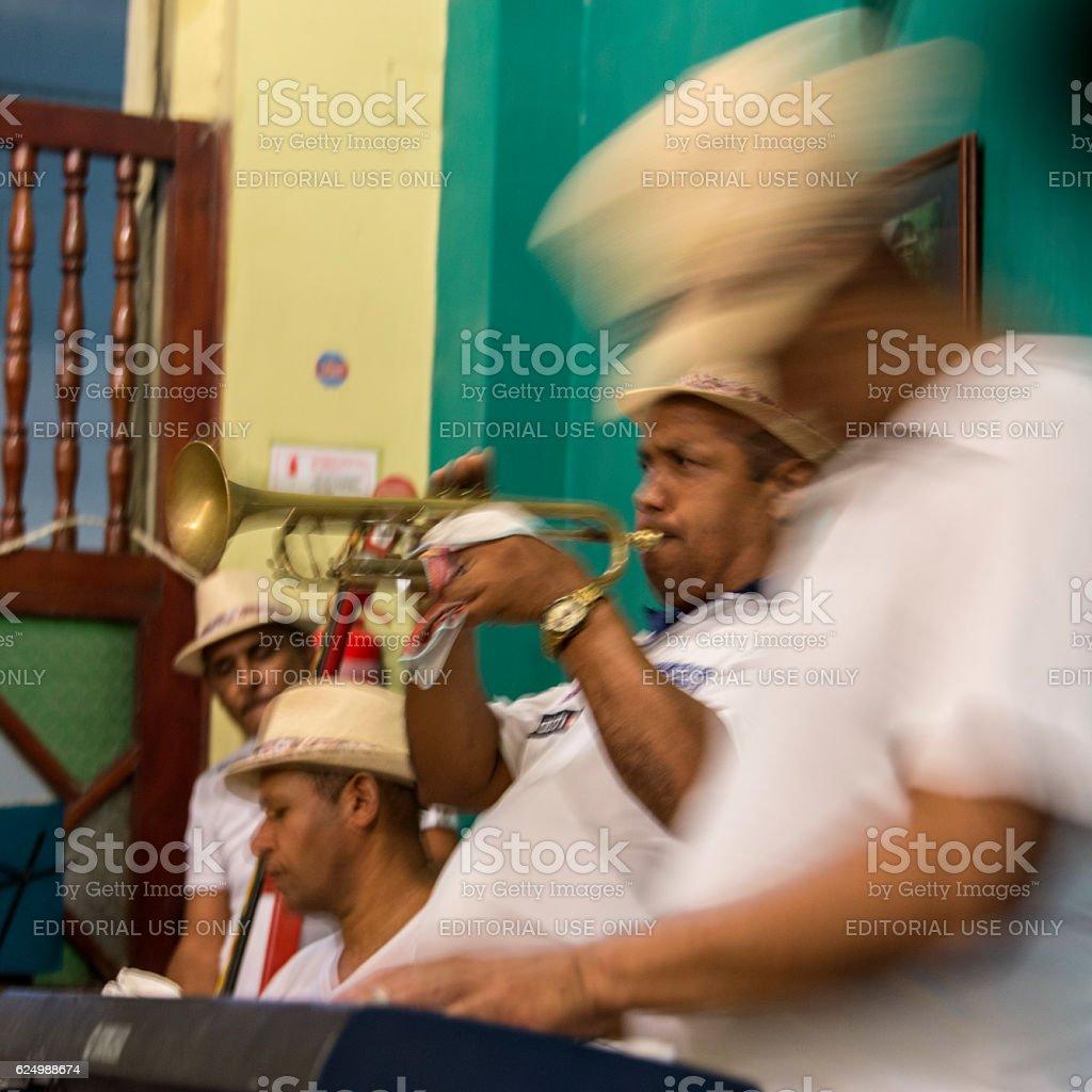 Cuban music group stock photo
