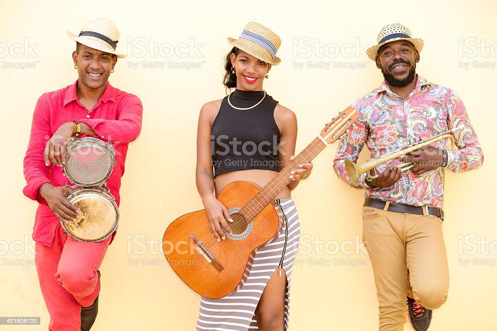 Cuban Musical Band Outdoors stock photo