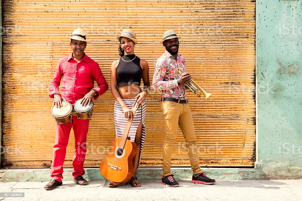 Cuban Musical Trio stock photo