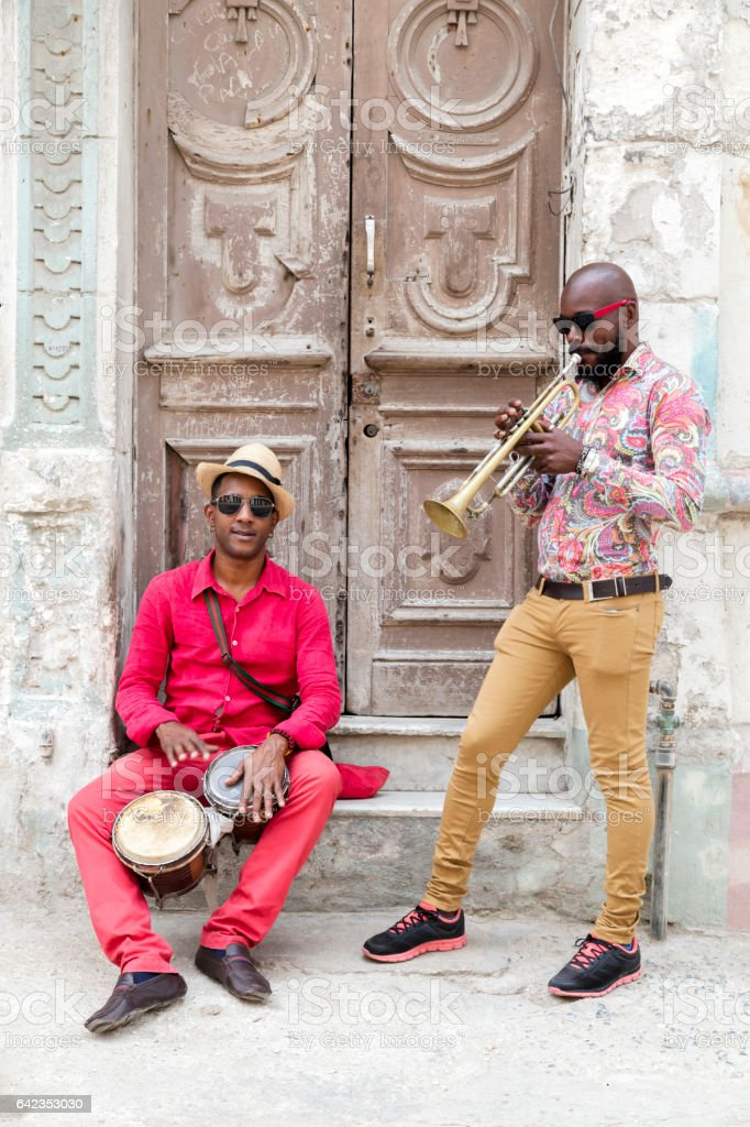 Cuban musicians, Havana, Cuba stock photo