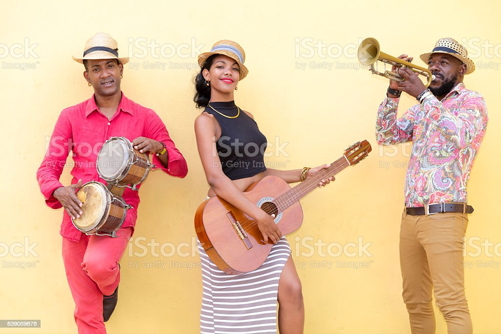 Cuban Musicians in Havana stock photo