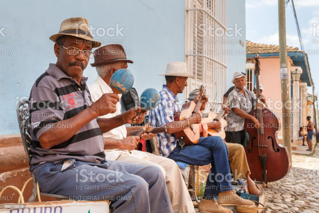 Cuban musicians royalty-free stock photo