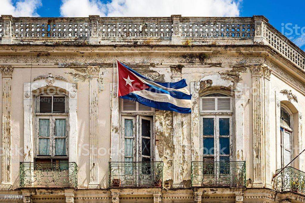 Cuban national flag stock photo