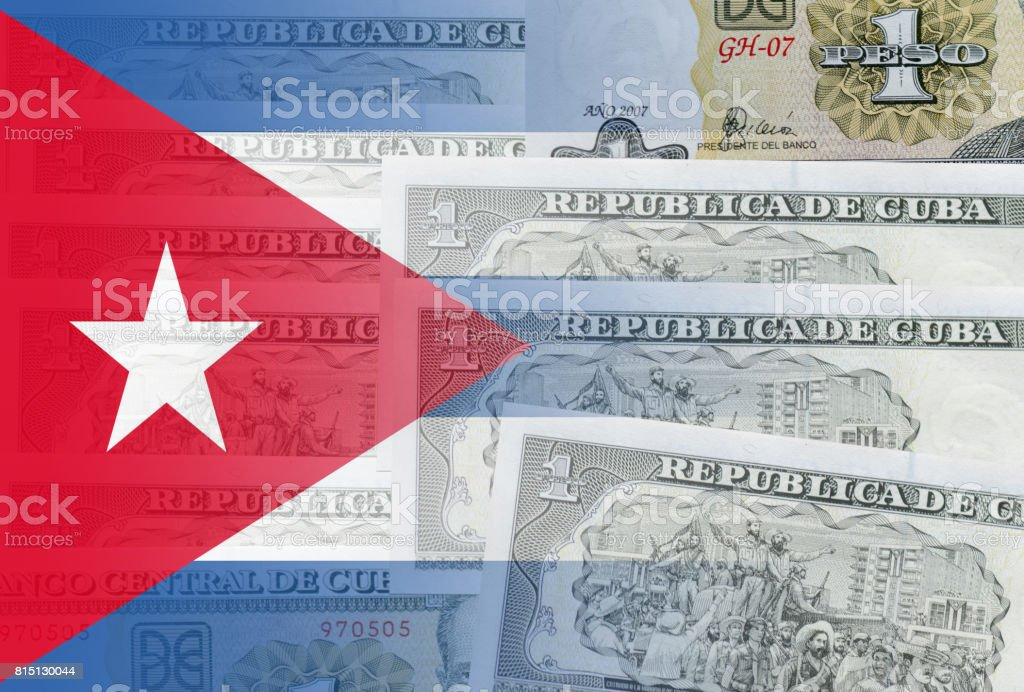 1 Cuban Peso And Cuban Flag Stock Photo More Pictures Of Arts