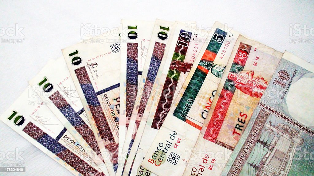 Cuban Pesos Paper Currency stock photo