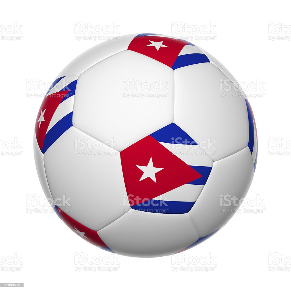 Cuban soccer ball stock photo
