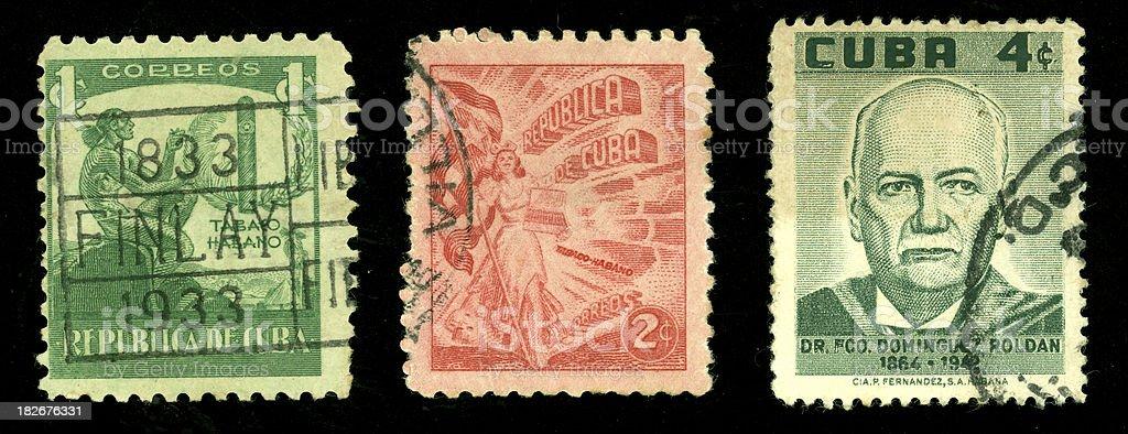 cuban stamp series royalty-free stock photo