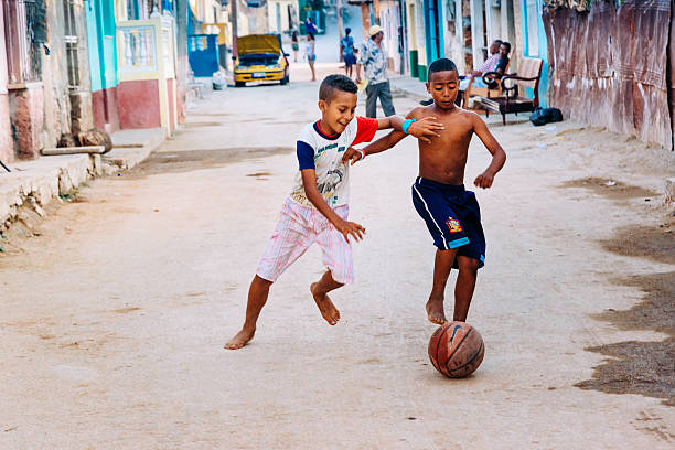 cuban street soccer - disinherit stock pictures, royalty-free photos & images