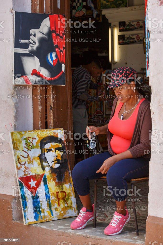 Cuban woman royalty-free stock photo