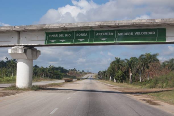 Cuba's A4 Motorway stock photo