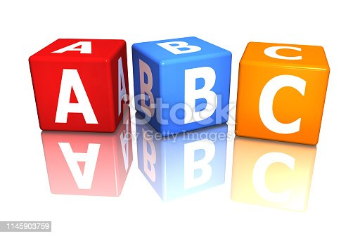 istock cube abc colorful 3d rendering 1145903759