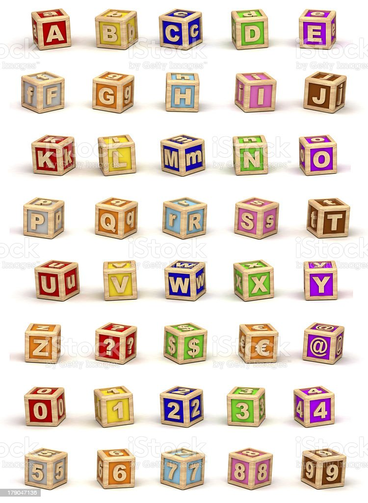 Cube Alphabet stock photo