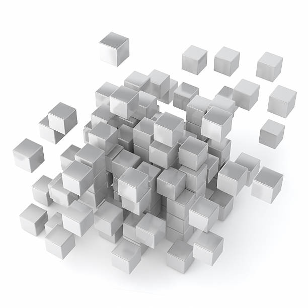 Cube and blocks stock photo