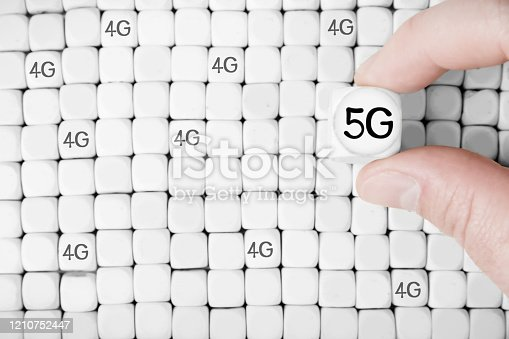 1137367258 istock photo Cube Blocks with 5G Network Concept 1210752447
