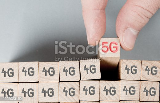 1137367258 istock photo Cube Blocks with 5G Network Concept 1222023150