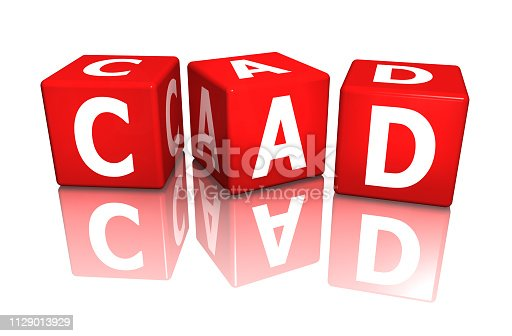 istock cube cad red 3d rendering 1129013929