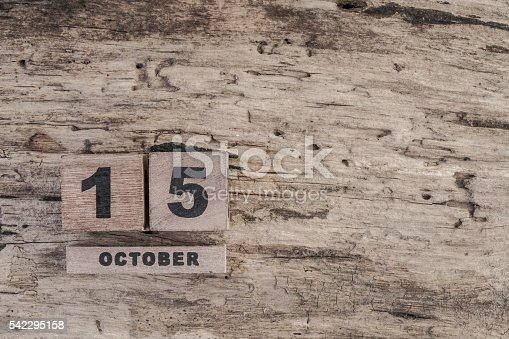 istock cube calendar for october on wooden background with copy space 542295158
